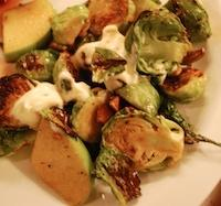 Roasted Brussels Sprouts with Apple, Creme …